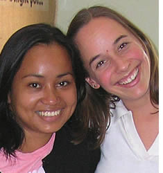 Andrea Rebsamen with her Spanish teacher Janeth Martínez, current Academic Director